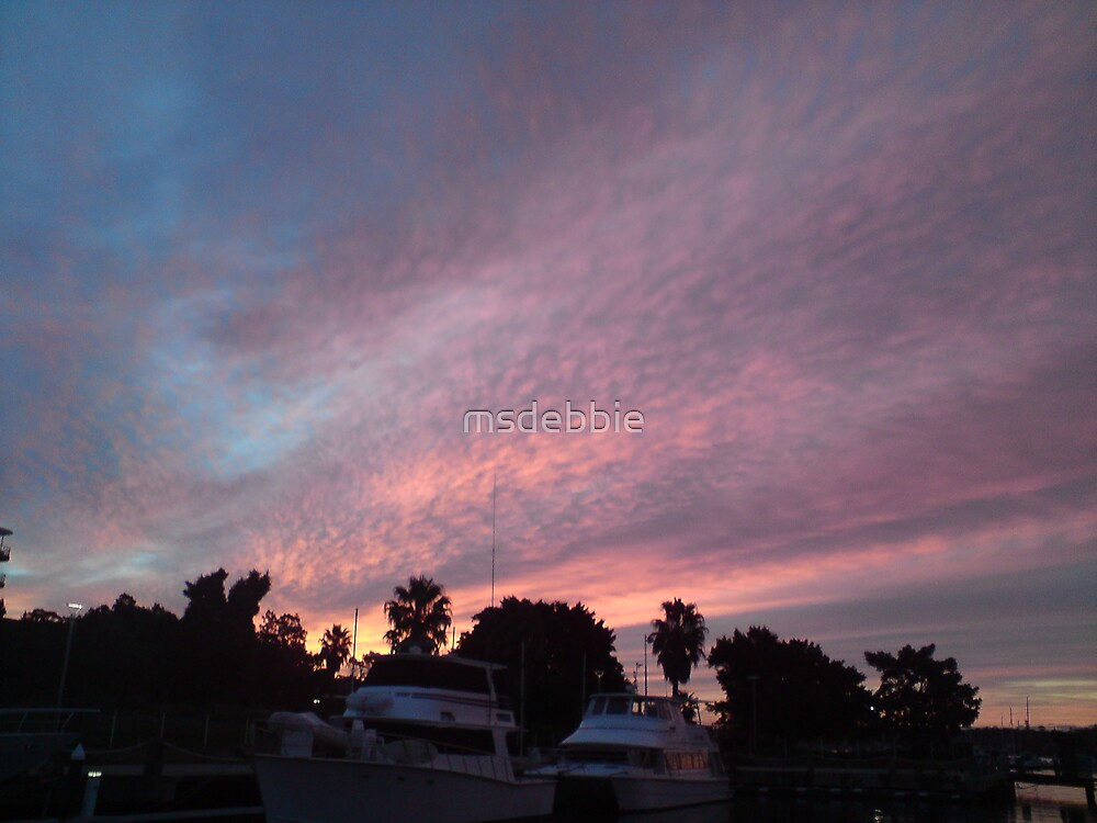 Sunset and shadow (1) by msdebbie