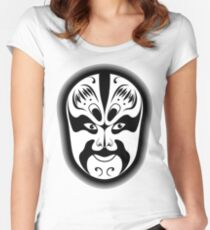 Peking Opera Mask Fitted Scoop T-Shirt