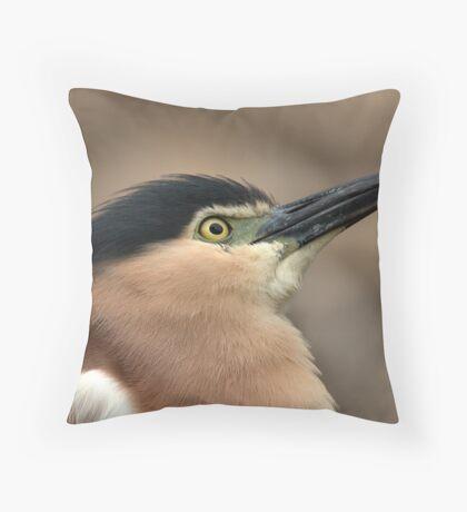 Nankeen Night Heron Look Up Throw Pillow