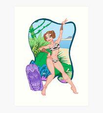 Adventures of the Princess on Tiki-6 Art Print