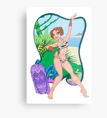 Adventures of the Princess on Tiki-6 Metal Print