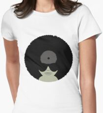 Funky Vinyl Records Women's Fitted T-Shirt