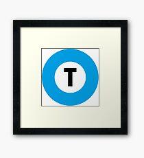 東京メトロ 東西線ロゴ -Tokyo Metro Tozai Line logo- Framed Print