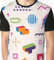 Memphis style abstract geometric seamless pattern. Composition 11 Graphic T-Shirt