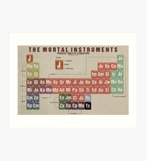 The Mortal Instruments Periodic Table of Character Art Print