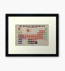The Mortal Instruments Periodic Table of Character Framed Print