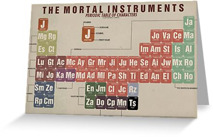 The mortal instruments periodic table of character greeting cards the mortal instruments periodic table of character by thespngames urtaz Gallery