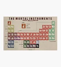 The Mortal Instruments Periodic Table of Character Photographic Print