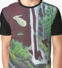 Russell Falls. Modern abstract landscape painting Graphic T-Shirt