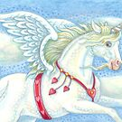 FLYING HEARTS UNICORN by Susan Brack