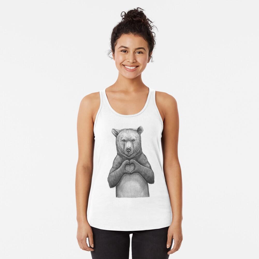 Bear with love Racerback Tank Top
