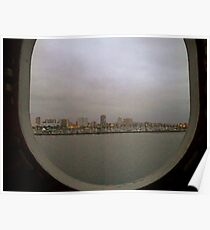 Ocean View from Port Hole Window  Poster
