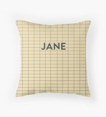 JANE Subway Station Throw Pillow