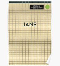 JANE Subway Station Poster