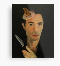 Doug Moran Semi Finalist painting Self Portrait of an artist Metal Print