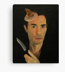 Doug Moran Semi Finalist painting Self Portrait of an artist Canvas Print