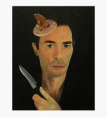 Doug Moran Semi Finalist painting Self Portrait of an artist Photographic Print