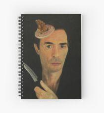 Doug Moran Semi Finalist painting Self Portrait of an artist Spiral Notebook