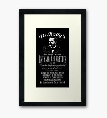 "Dr. Batty's Asthma Cigarettes - White - (Ad from 1890 - Says ""Since 1882"") Framed Print"