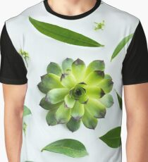 Green leaves pattern Graphic T-Shirt