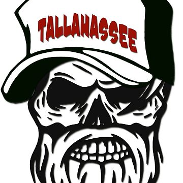 Tallahassee Florida Hometown Hipster Skull Trucker Cap Death by lemmy666
