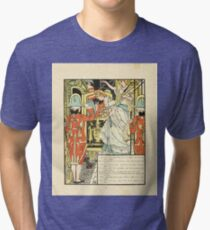 Cinderella Picture Book containing Cinderella, Puss in Boots, and Valentine and Orson Illustrated by Walter Crane 1911 14 - The Carriage Tri-blend T-Shirt