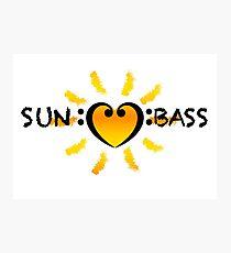 Bass Clef Heart Sun Summer Festival DnB Photographic Print