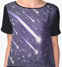 Flying meteors. Ultra violet.  Chiffon Top