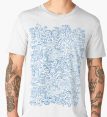 Pattern composed by a crowd of funny people Men's Premium T-Shirt