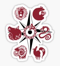 Seven Deadly Tattoos Sticker