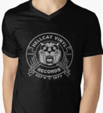 Hellcat Vinyl Records  Men's V-Neck T-Shirt