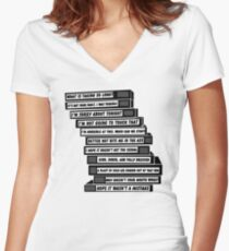 B'99 Sex Tapes Women's Fitted V-Neck T-Shirt