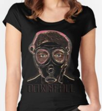 INFERNO MASK DOWN Women's Fitted Scoop T-Shirt