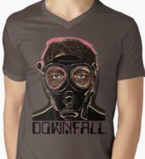 INFERNO MASK DOWN Men's V-Neck T-Shirt