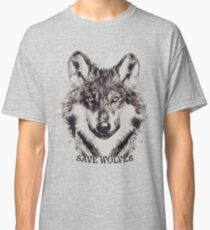 SAVE WOLVES Classic T-Shirt