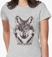 SAVE WOLVES Women's Fitted T-Shirt