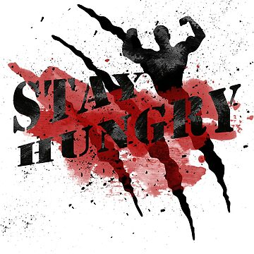 Stay Hungry Red Watercolor Black Claws #01 by DennsDesign