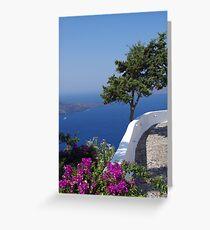 Santorini, Greece - Colours of Summer 2011 Greeting Card