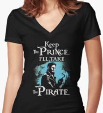 Keep The Prince, I'll Take The Pirate Women's Fitted V-Neck T-Shirt