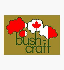 Bushcraft Canada flag Photographic Print