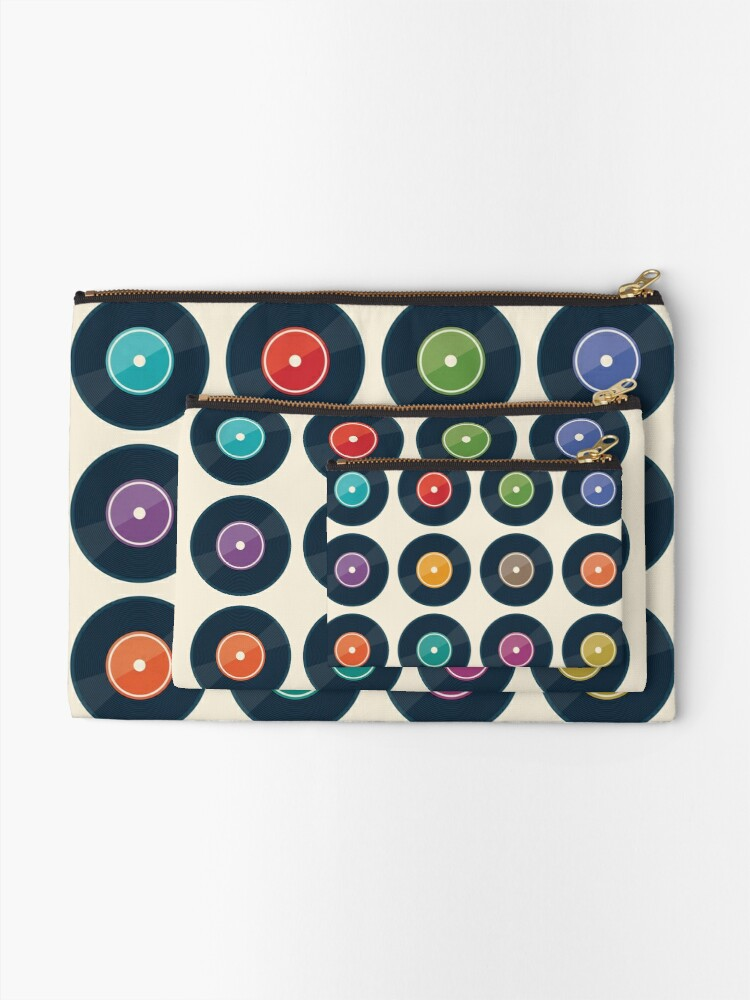 Alternate view of Vinyl Record Collection Zipper Pouch