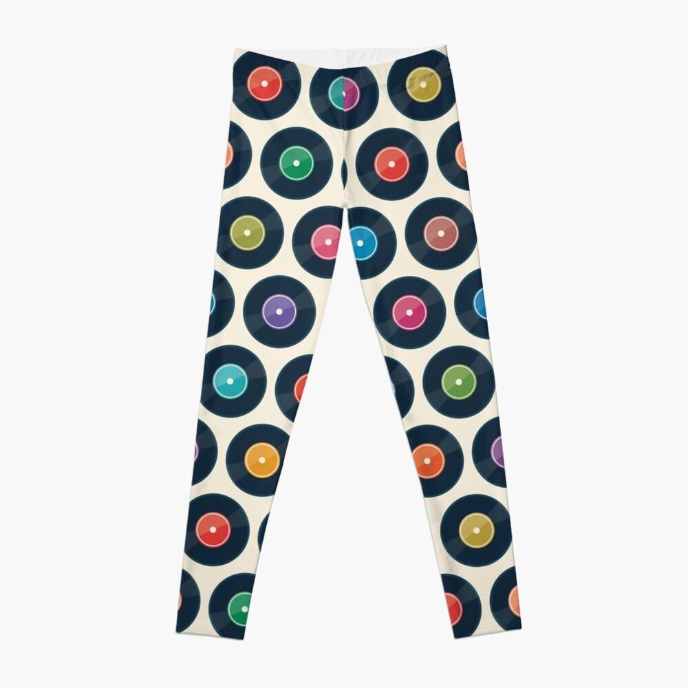 Vinyl Record Collection Leggings