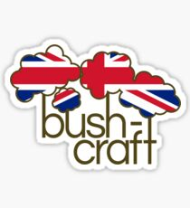 Bushcraft United Kingdom flag Sticker