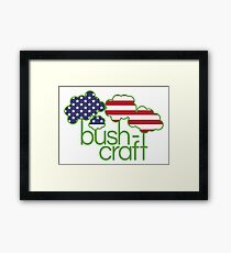 Bushcraft USA flag  Framed Print