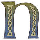 Celtic Knotwork Alphabet - Letter N by Carrie Dennison