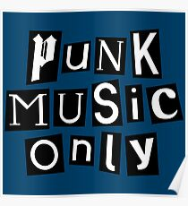 punk music anarchy typography Poster