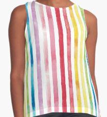 Watercolour Rainbow Stripes Contrast Tank