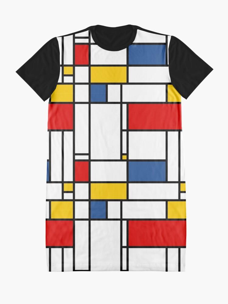 Alternate view of mondrian modern de stijl Graphic T-Shirt Dress