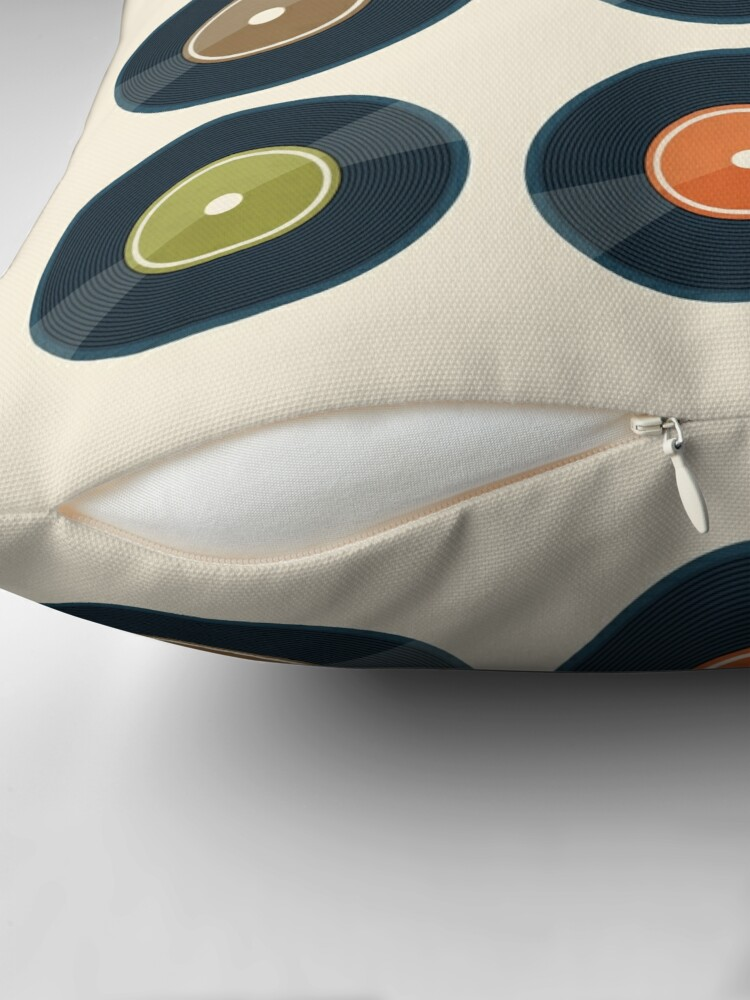 Alternate view of Vinyl Record Collection Throw Pillow