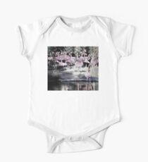 Flamingo Community- Contemporary Design Short Sleeve Baby One-Piece